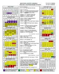 Makeup Days- 2020-21 School Calendar